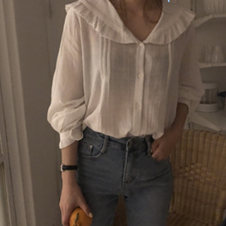delight ruffle blouse (재입고!)
