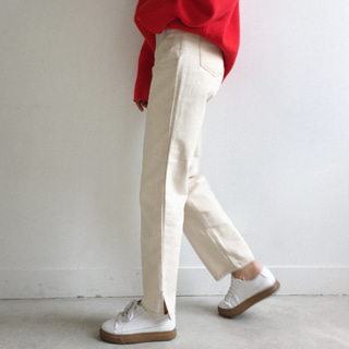 slit stitch pants (블랙S)